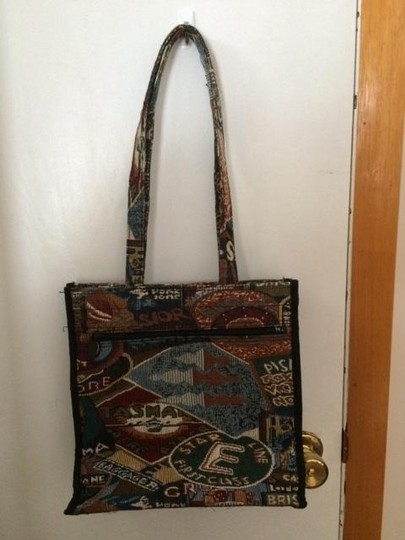unknown Vintage Travel Jacquard Travel Bag