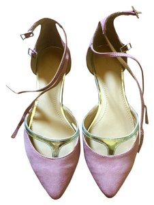 Zara Pink And Silver Flats