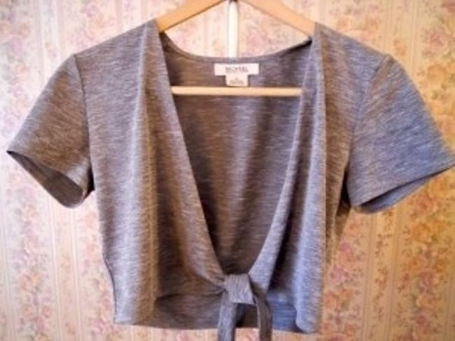 Michael Kors Top Two Piece Gray w/ Red Trim