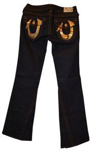 True Religion Wash Boot Cut Jeans-Dark Rinse