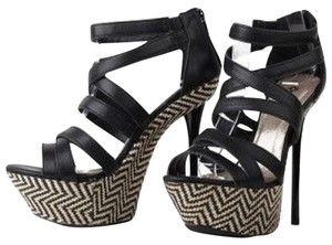 Qupid Black and Tan Platforms
