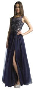 Basix Prom Blue Sequin Dress