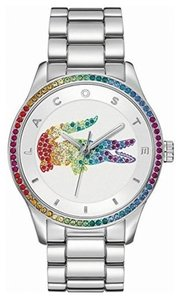 Lacoste Lacoste Victoria Watch - Silver with Rainbow Diamonds