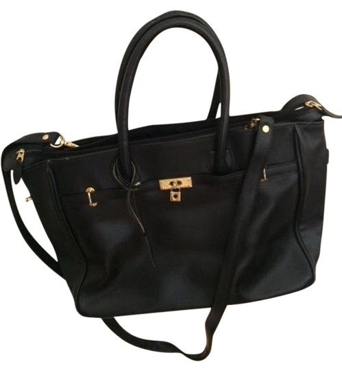 Preload https://item1.tradesy.com/images/avon-genuine-leather-shoulder-bag-black-with-gold-accents-1487395-0-0.jpg?width=440&height=440