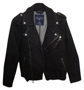 American Eagle Outfitters Black Womens Jean Jacket