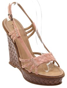 Bottega Veneta Pinky-Peach Wedges