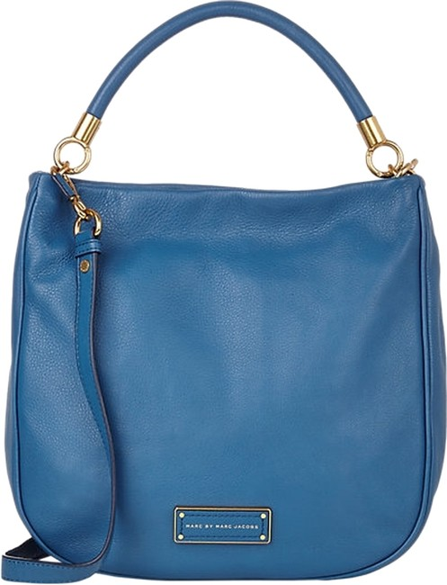 Item - Too Hot To Handle Tote - Blue Leather Hobo Bag