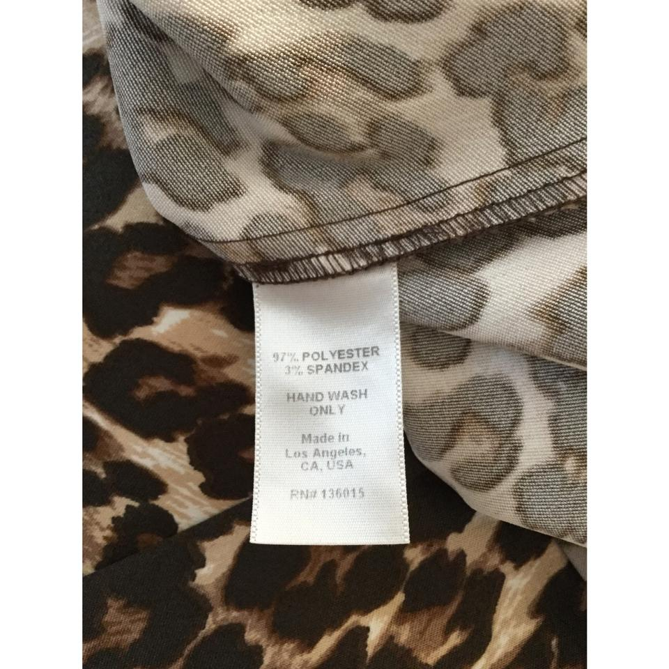 b0dc957245607 Naven Brown Leopard Print Strapless Short Above Knee Cocktail Dress Size 8  (M) - Tradesy