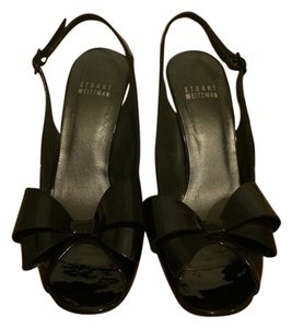 Stuart Weitzman Patent Leather Black Formal