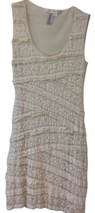 Max Studio short dress Beige Lace on Tradesy