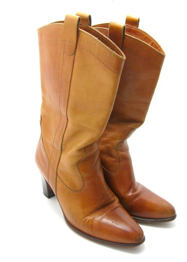 Other Cowboy Vintage Well Loved Heel Congac Brown Boots