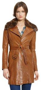 June Leather Trench Coat