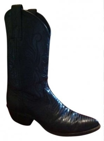 Preload https://img-static.tradesy.com/item/148750/black-lizard-leather-upper-stitching-and-leather-soles-one-inch-heel-bootsbooties-size-us-55-0-0-540-540.jpg