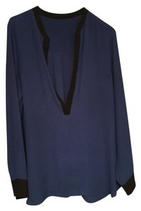 Karen Kane Top Blue/Black