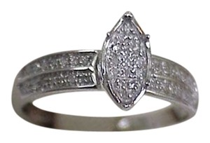Other Priced to Sell!! Estate Vintage 10k White Gold .32cttw Diamond Ring