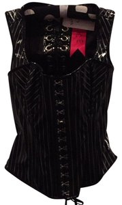 Lip Service Pvc Laces Gothic Top Black