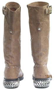 Donald J. Pliner beige with studs Boots