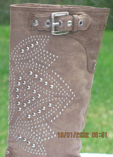 Donald J. Pliner beige with studs Boots Image 2