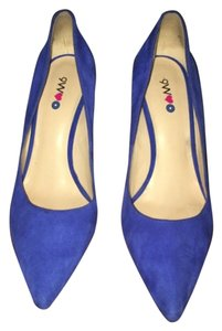 Nine West Suede Summer Cobalt Blue Pumps