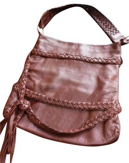 Goldenbleu Soft Leather Peppled Leather Copper Colored Rings Magnetic Closure Suede Lining Cross Body Bag