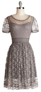 Modcloth Lace Party Bridesmaid Romantic Feminine Sheer Slip Lace Trim Dress
