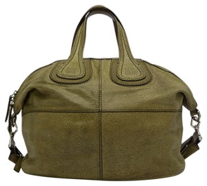 Givenchy Medium Nightingale Leather Satchel in Olive Green Hue fe70b2b296a3c