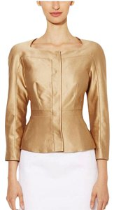 L.K. Bennett NEW! Champagne Colored Silk Fitted Jacket