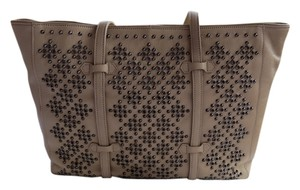 Roberta 3 Internal Pockets Stud/grommet Accents Supple Leather Chic/sophisticated Made In Italy Shoulder Bag