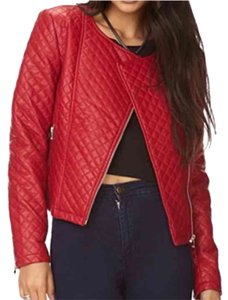 Forever 21 Red Leather Jacket