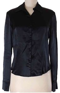 The Limited Button Down Shirt Black Silk
