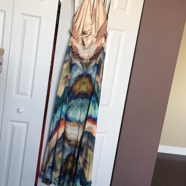 Nude/printed Maxi Dress by bebe