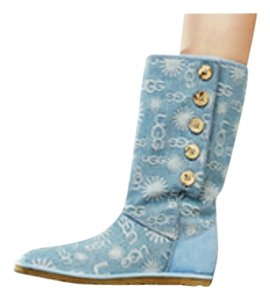 UGG Australia Full Length Fur light blue Boots