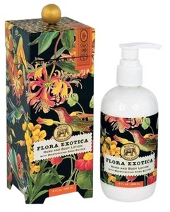 Michel Design Works Flora Exotica Hand/Body Lotion 8oz - Scent: Exotic Flowers in Bloom (Brand New)