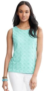 Banana Republic Mint Lace Top Fresh Mint