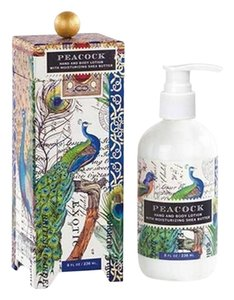 Michel Design Works Peacock Hand/Body Lotion - Scent: Blue Lotus (Brand New)