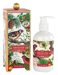 Michel Design Works Christmastime Hand/Body Lotion 8oz - Scent: Winter Greenery (Brand New)