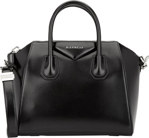 Givenchy Antigona Smooth Calf Patent Satchel in black