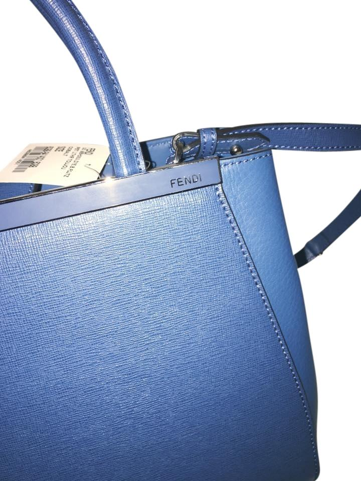 29015b2968b9 Fendi    sale    Petite 2jours Ocean Blue  Cobalt Saffiano Leather Satchel