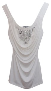 Charlotte Russe Sparkle Sequin Top White