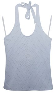 Wildfox Beaded Embellished Diamond White Halter Top