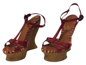 Dolce&Gabbana Red and blue Wedges