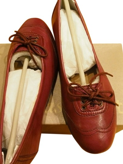 Easy Spirit Comfortable Red Ballet Brand New Size 6.5 Red/Burgundy Flats