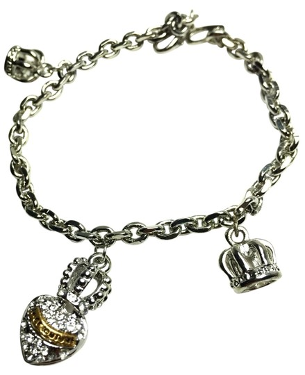 Juicy Couture Juicy Couture Pave Heart Crown Wish Charm Bracelet