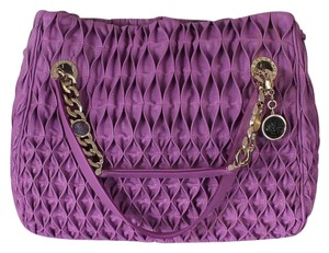 BVLGARI Purple Textured Large Tote