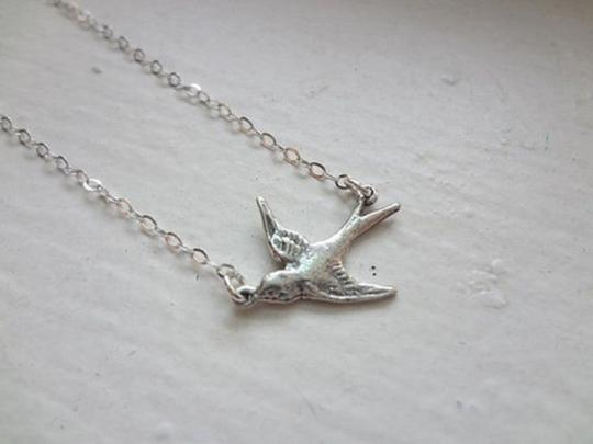 Other Tiny Swallow Bird 925 Sterling Silver Charm Pendant Necklace, Free Shipping