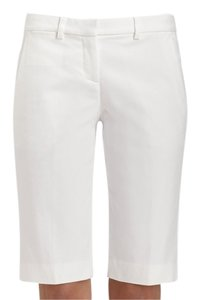Theory Bermuda Tailored Bermuda Shorts White