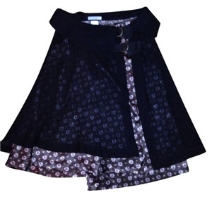 French Designer Skirt Brown
