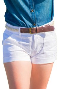 Cuffed Shorts White