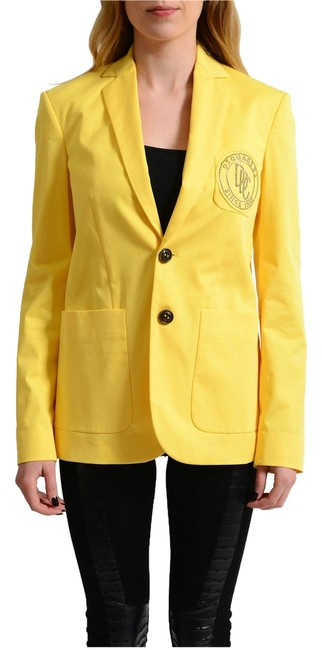 Preload https://item4.tradesy.com/images/dsquared2-yellow-v-wh-4187-blazer-size-8-m-14881783-0-1.jpg?width=400&height=650