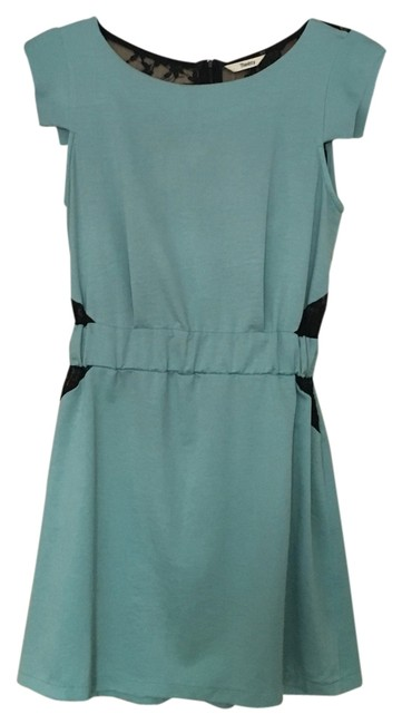 Preload https://item2.tradesy.com/images/teal-and-black-above-knee-short-casual-dress-size-2-xs-14881966-0-1.jpg?width=400&height=650